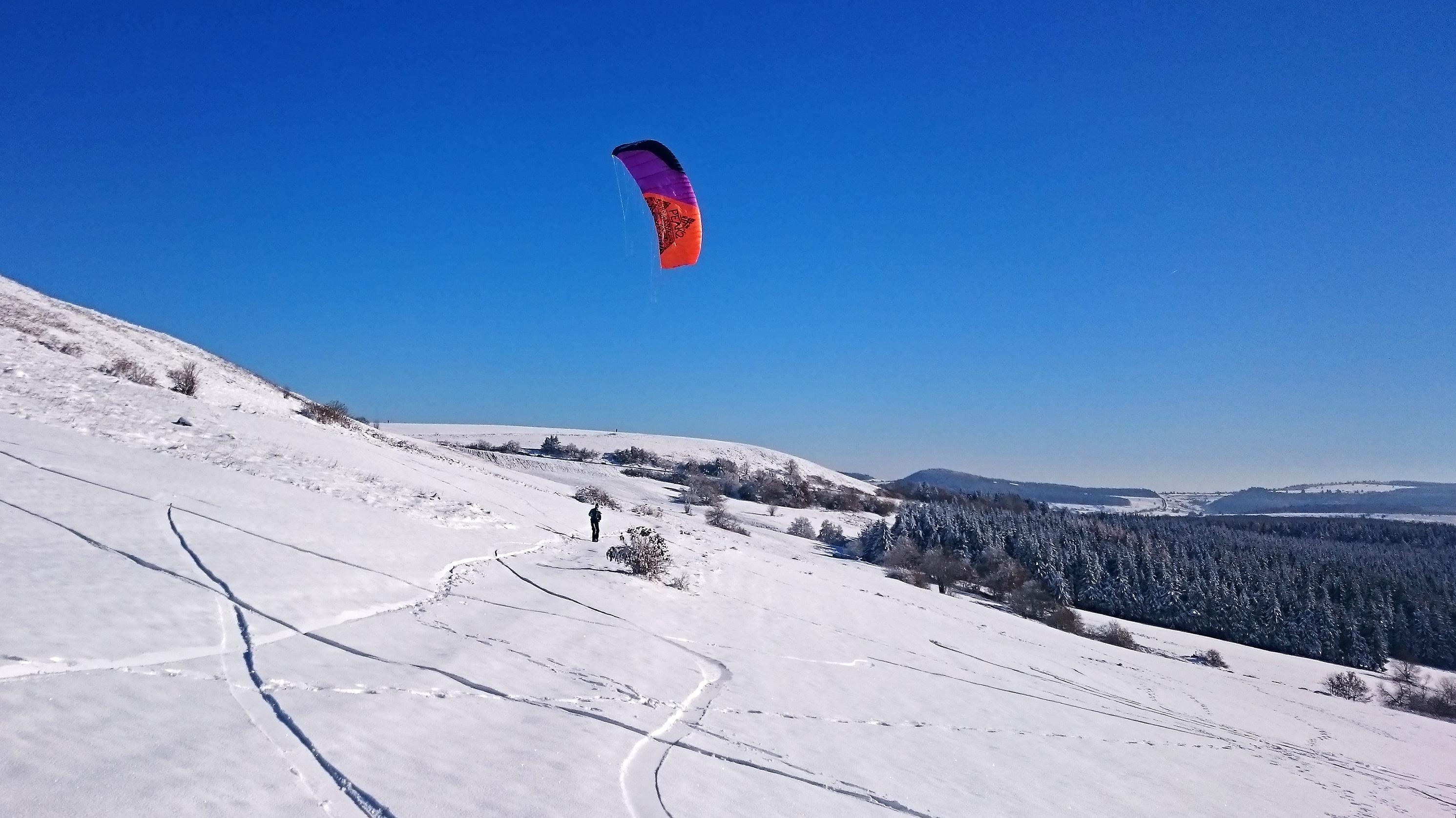 wasserkuppe-Snowkite