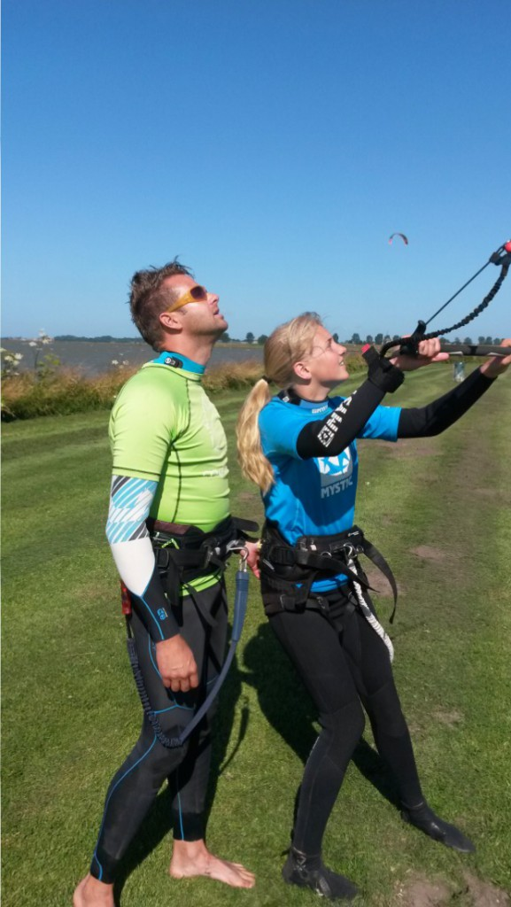 Kidsles kitesurfen